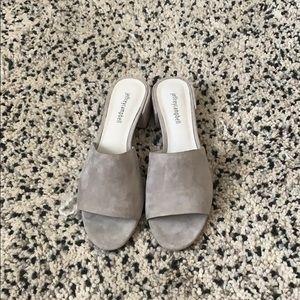 Grey Suede Jeffrey Campbell sandals sz9